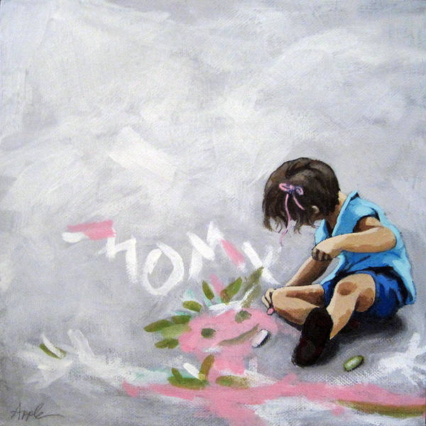 Wall Art - Painting - Artist Of The Future - Little Girl by Linda Apple