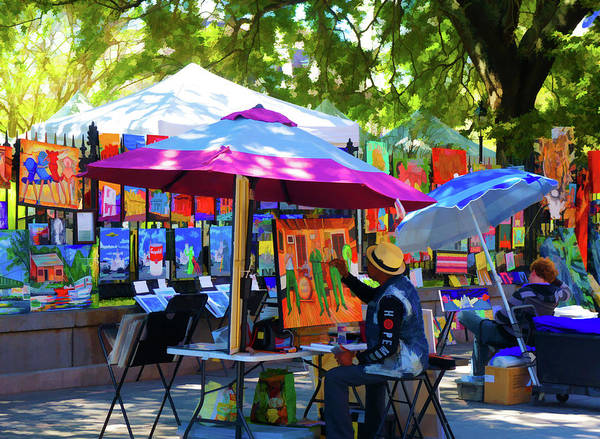 Wall Art - Painting - Artist Painting At Jackson Square, New Orleans, Louisiana by Art Spectrum