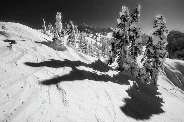 Snowshoe Photograph - Artist Point Black And White by Pelo Blanco Photo