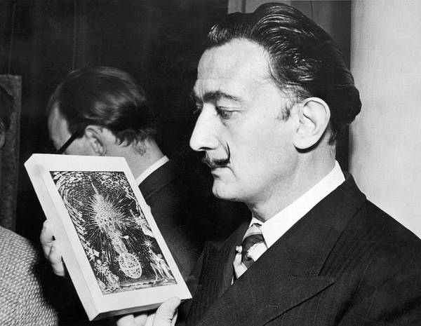Salvador Photograph - Artist Salvador Dali by Underwood Archives
