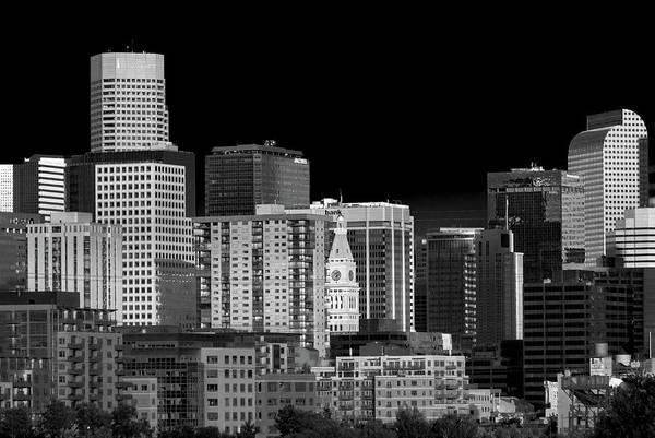 Wall Art - Photograph - Artistic Black And White Interpretation On Downtown Denver by Bridget Calip