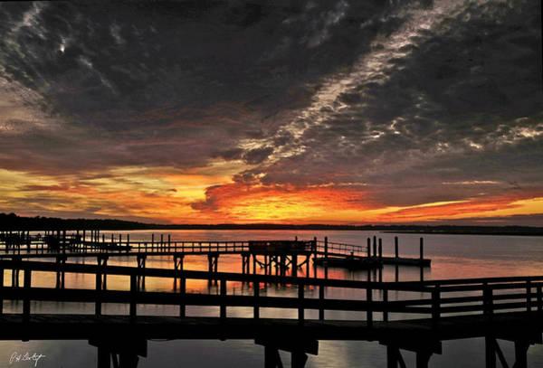 Orange County Digital Art - Artistic Black Sunset by Phill Doherty
