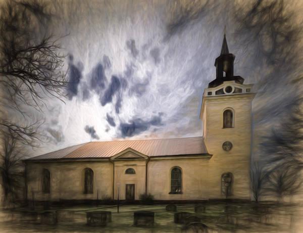 Photograph - Artistic Church Of Torstuna by Leif Sohlman