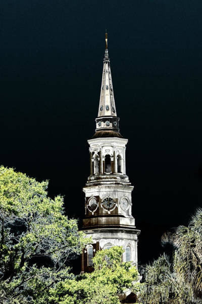 Photograph - Artistic Church Tower by Dale Powell
