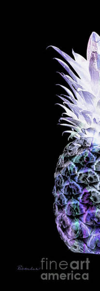 Photograph - Artistic Glowing Pineapple Violet And Green 14il by Ricardos Creations