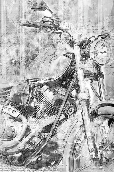 Wall Art - Drawing - Artistic Ride Black by Melissa Smith