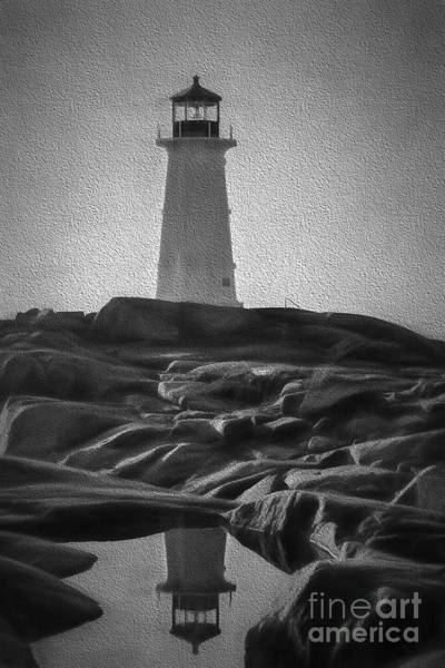 Photograph - Artistic Scene Of Lighthouse At Peggys Cove by Dan Friend