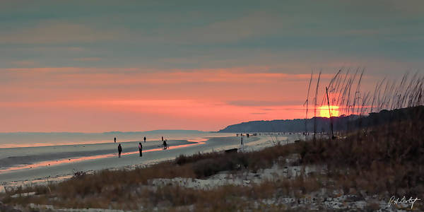 Lowcountry Digital Art - Artistic Sunset South Beach by Phill Doherty