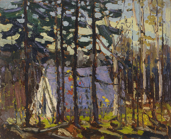 Wall Art - Painting - Artist's Camp, Canoe Lake, Algonquin Park by Tom Thomson