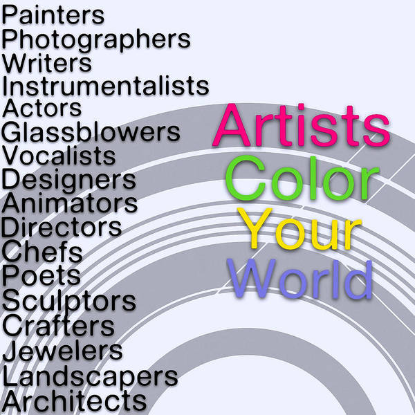 Digital Art - Artists Color Your World - Art For Artists Series by Susan Maxwell Schmidt