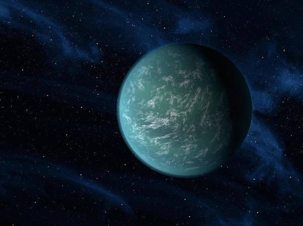 Cosmology Digital Art - Artists Concept Of Kepler 22b, An by Stocktrek Images
