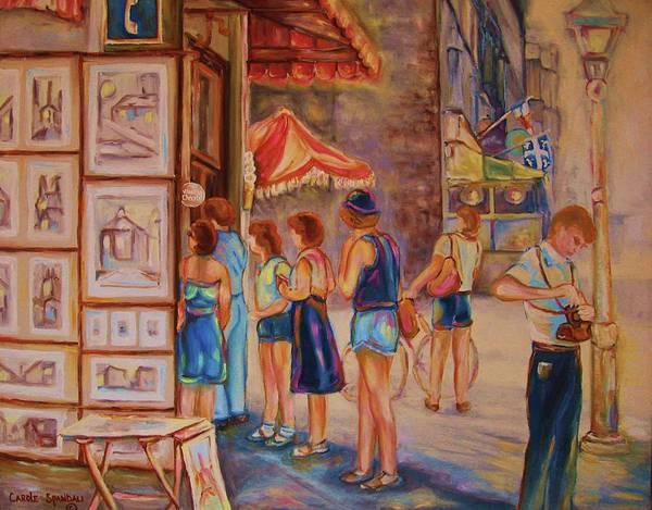 Painting - Artists Corner Rue St Jacques by Carole Spandau