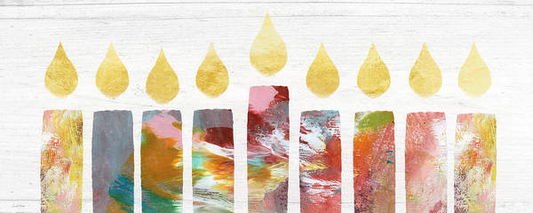 Artwork Painting - Artists Menorah- Art By Linda Woods by Linda Woods