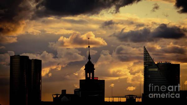 Photograph - Artmif Cloudscape Of Orange Sunset Riga Artmif.lv Latvia by Raimond Klavins