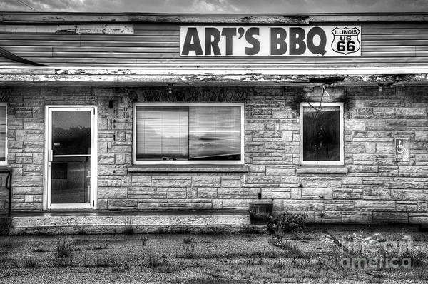 Out Of Business Wall Art - Photograph - Art's Bbq by Twenty Two North Photography