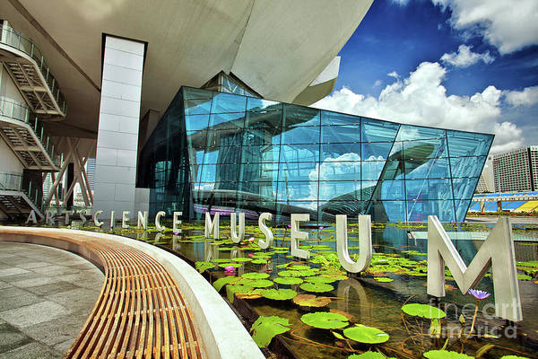 Photograph - Artscience Museum At The Marina Bay Sands Resort In Singapore by Sam Antonio Photography