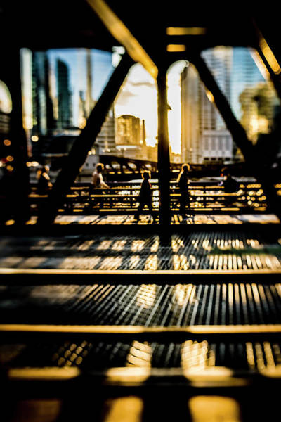Photograph - Artsy Chicago Bridge Scene  by Sven Brogren