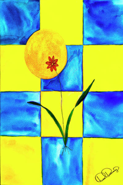 Painting - Artsy Tile by Dee Browning