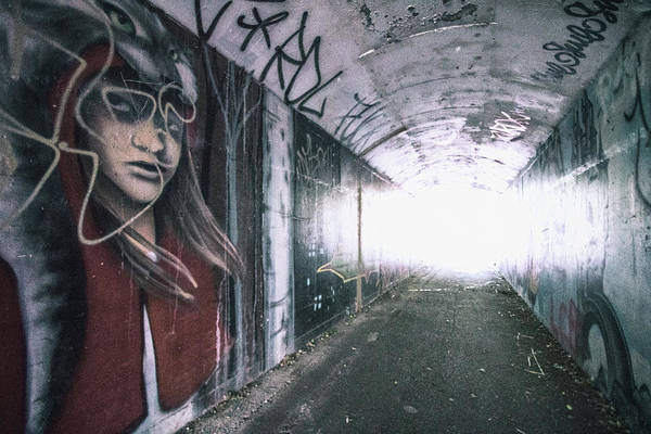 Hand Painted Photograph - Arty Tunnel by Martin Newman