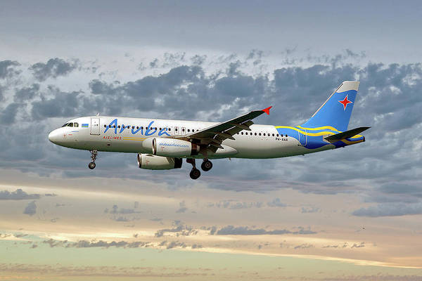 Wall Art - Photograph - Aruba Airlines Airbus A320-232 114 by Smart Aviation