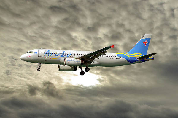 Wall Art - Photograph - Aruba Airlines Airbus A320-232 115 by Smart Aviation