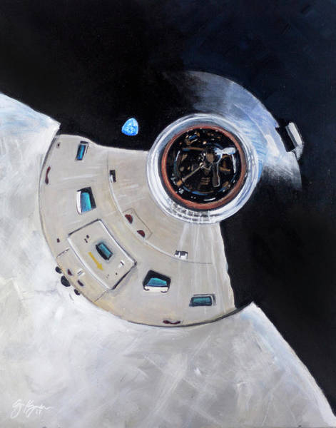 Nasa Wall Art - Painting - As-503 Apollo 8 by Simon Kregar