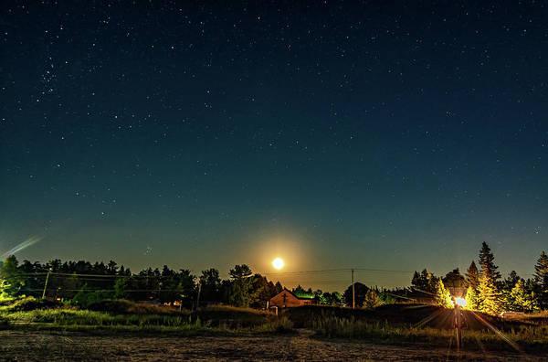 Sauble Beach Photograph - As August Ends - Moonrise  by Steve Harrington