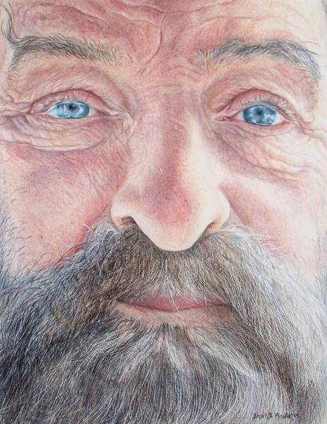 Caucasian Drawing - As He Ages by Shana Rowe Jackson