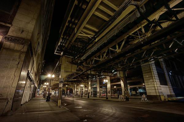 Wabash Avenue Wall Art - Photograph - As The City Sleeps - Chicago Loop by Daniel Hagerman