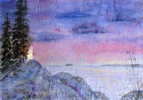 Painting - As The Sun Sets by Diane Kirk