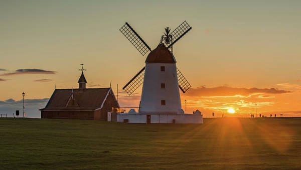Windmills Photograph - As The Sun Sets  by Mark Mc neill