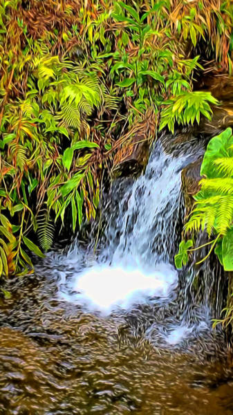 Mixed Media - As The Water Falls by Pamela Walton
