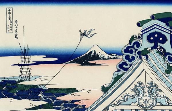Wall Art - Painting - Asakusa Honganji Temple In The Eastern Capital  by Hokusai