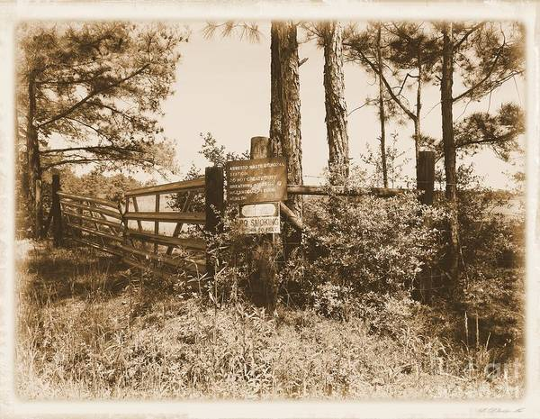 Photograph - Asbestos Lake Albumen Border by Jay Mann