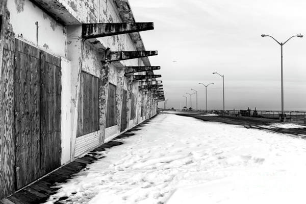 Photograph - Asbury Park Boardwalk Snow 2014 by John Rizzuto