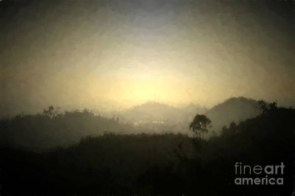 Photograph - Ascend The Hill Of The Lord - Digital Paint Effect by Sharon Tate Soberon