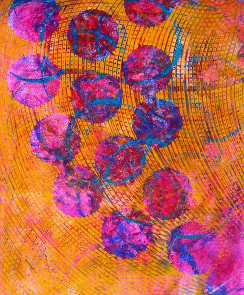Painting - Ascending Circles by Polly Castor