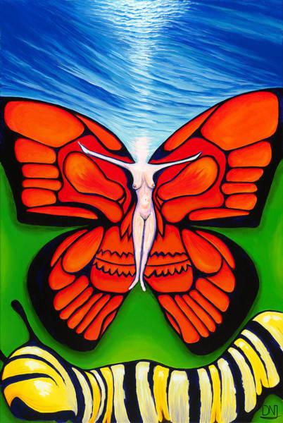 Wall Art - Painting - Ascension by David Junod