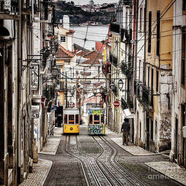 Lift Photograph - Ascensor Da Bica, Lisbon, Portugal by Colin and Linda McKie