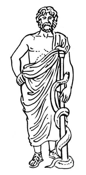 Drawing - Asclepius / Aesculapius by Granger