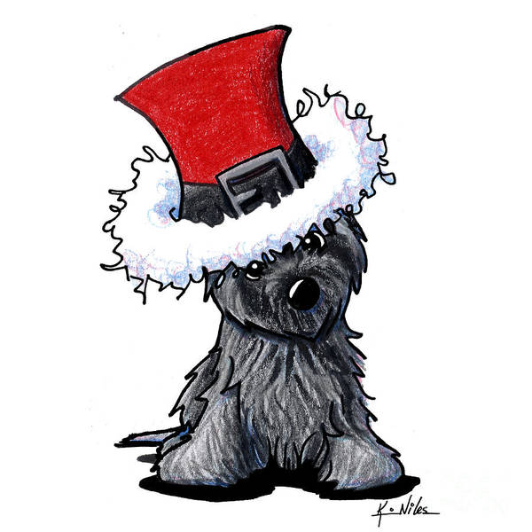 Ashes Drawing - Ash Cairn Terrier by Kim Niles