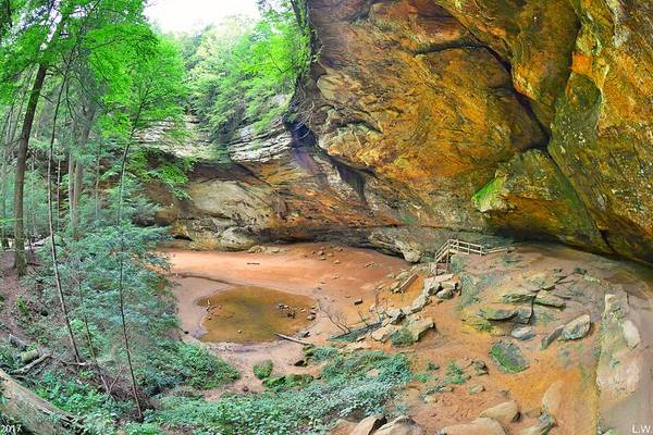 Photograph - Ash Cave Hocking Hills Ohio by Lisa Wooten