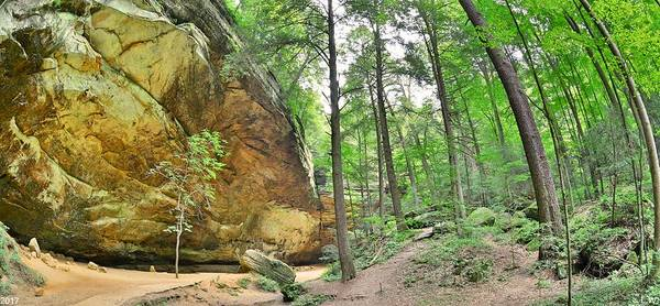 Photograph - Ash Cave Panorama At Hocking Hills Ohio by Lisa Wooten