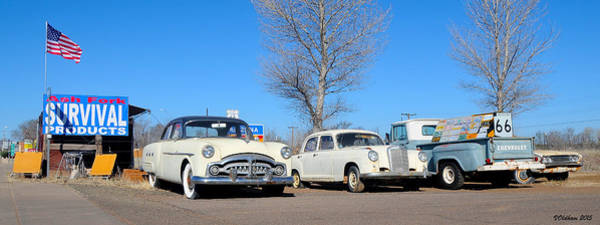 Photograph - Ash Fork Vintage Cars Along Historic Route 66 by Victoria Oldham