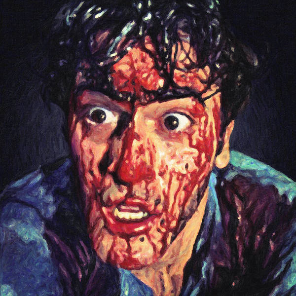 Serial Killer Painting - Ash Williams by Zapista Zapista