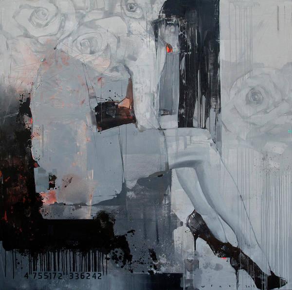 Wall Art - Painting - Ashen Flower by Viktor Sheleg
