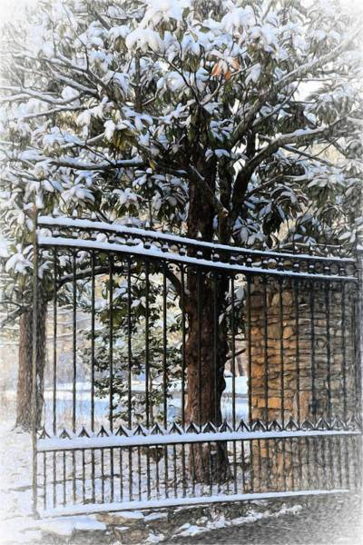 Photograph - Asheville Botanical Gardens Main Gate Painting by Carol Montoya