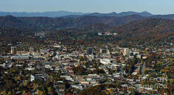 Grove Park Inn Photograph - Asheville, City, Downtown, Nc, North Carolina, Mountains, Mountains, Real Estate, Blue Ridge Mountai by David Oppenheimer