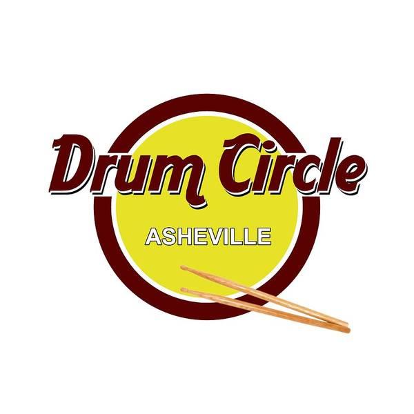 Drum Circle Wall Art - Digital Art - Asheville Drum Circle Logo by John Haldane