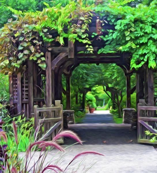 Digital Art - Asheville Nc Arboretum 2 by Ginger Wakem